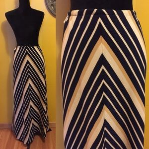 Vintage striped maxi Skirt S