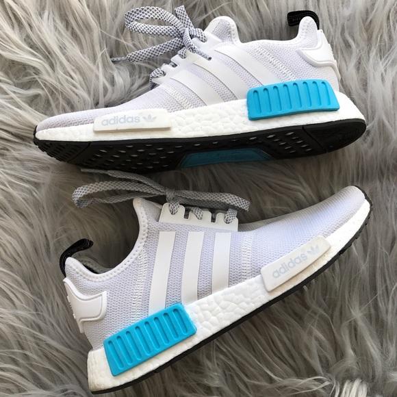 9c45419ba Adidas Shoes - Adidas NMD White Bright Cyan Blue