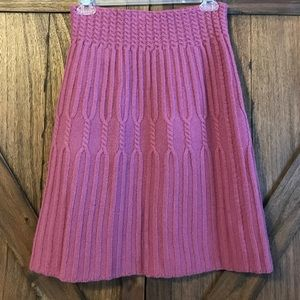 Wool cable knit sweater skirt