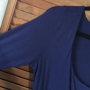 Eloquii Dresses & Skirts - Deep Blue Eloquii Wrap Tshirt Dress