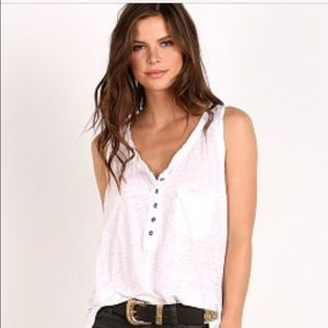 Free People Tops - FREE PEOPLE white traveler tank NWT size Med
