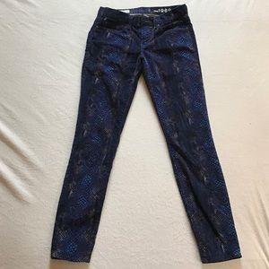 Gap velvet legging snakeskin jeans.