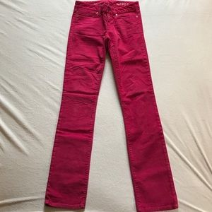 GAP Pants - Gap real straight hot pink corduroy pants.