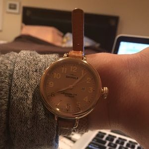 Shinola Accessories - Shinola The Birdy Polished Golden Doublewrap Watch