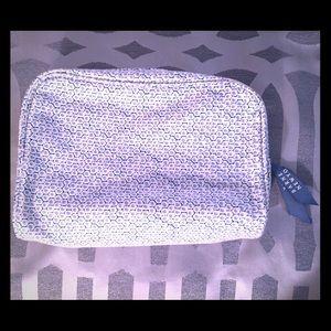 Barneys New York Handbags - Barney's New York cosmetic bag blue and white