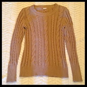 J. Crew Cable Crewneck Sweater