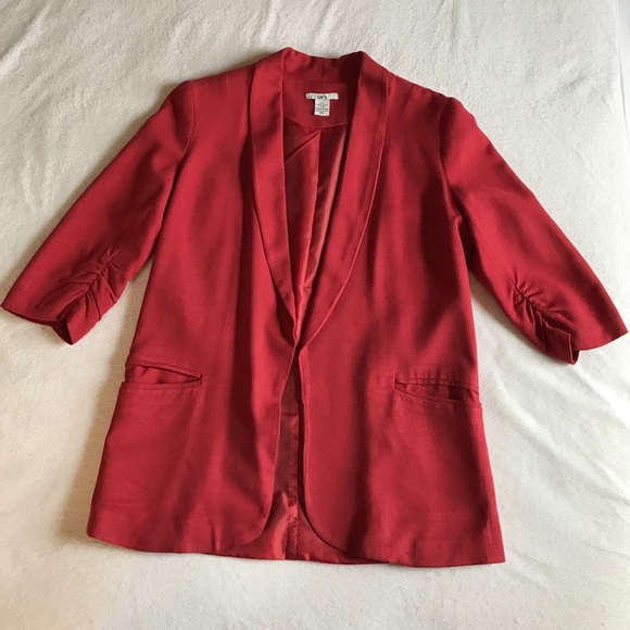 Jackets & Coats - Bar III red 3/4 sleeve lightweight blazer.