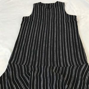 Who What Wear Striped Sleeveless Dress