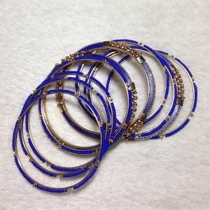 Jewelry - Blue and gold bracelets