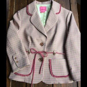 Phoebe from Anthro pink plaid blazer