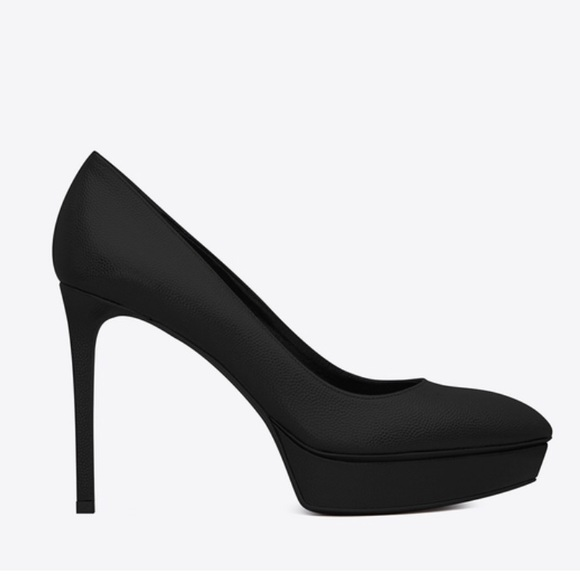 85585cf7391 Yves Saint Laurent Shoes | Classic Janis 80 Pump In Black Leather ...