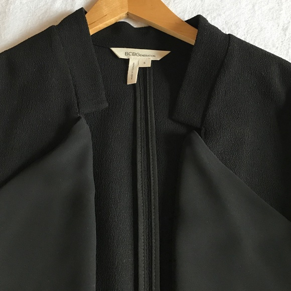 Jackets & Coats - BCBGeneration black blazer with front detail.