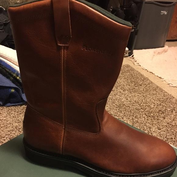 a30487a84d4 Florsheim leather steel toe work boots