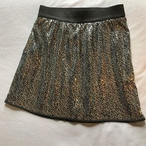 Gap silver sequin mini skirt.