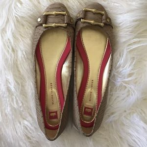 Elaine Turner Shoes gold bamboo buckle