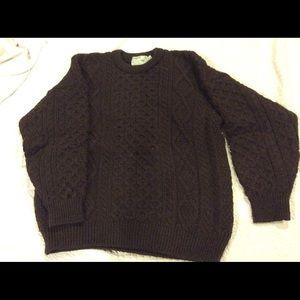 Inisfree Other - Men's 100% wool Aran fisherman sweater, dark brown