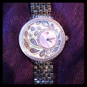 Michele Accessories - 😜FINAL PRICE😜Michele Watch with Diamond Bezel