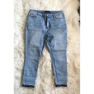 Fashion to Figure Denim - Fashion to Figure skinny acid wash denim Sz 18