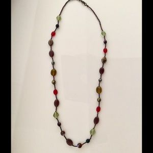Jewelry - Long Beaded Multi-Color Necklace