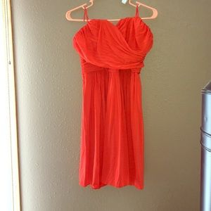 Beautiful reddish-orange JCREW dress. Worn once.