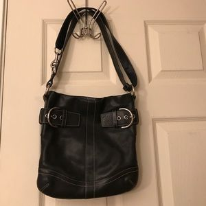Coach Black Leather Cross body