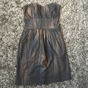 a is for audrey Dresses & Skirts - Gray and bronze Cotton strapless dress