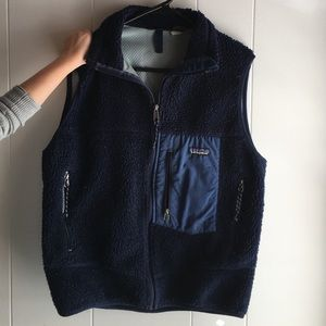 Retro men's blue Patagonia vest