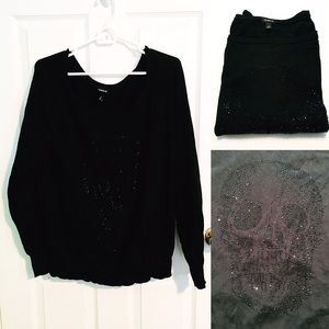 EUC Studded Skull Sweater