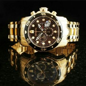 Invicta Other - Invicta $900 chronograph 18k gold watch