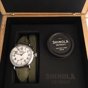 Shinola Accessories - Shinola green wrap watch! Worn 3 times.