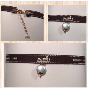 Hermes Jewelry - Authentic Hermes Ribbon Choker