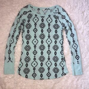 Tops - Aztec Print Thermal Shirt