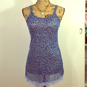 Victoria's Secret Animal Print Blue Lace Lingerie