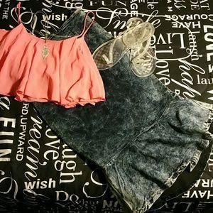 Jay ? Jane Dresses & Skirts - Acid wash high waist zip mermaid skirt