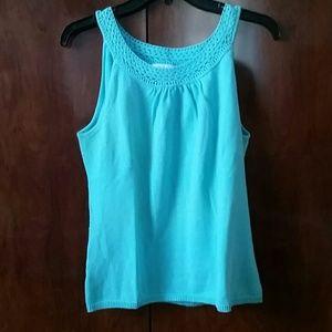 Ann Taylor Loft Turquoise Sleeveless Top