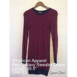 American Apparel Striped Sweater Dress