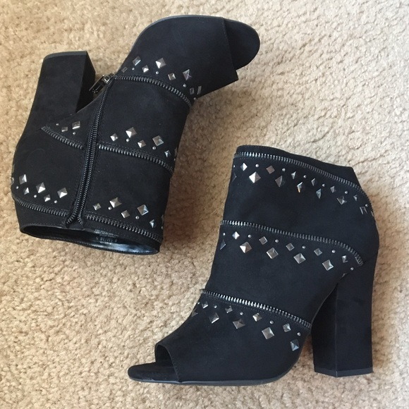 a7b4aa49d9d0 Jessica Simpson Shoes - Jessica Simpson black studded booties