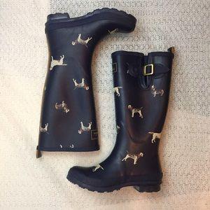 Joules Shoes - JOULES Dog Print Wellie Rainboots