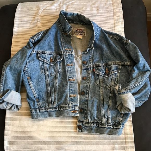 Levi's vintage cropped denim jacket