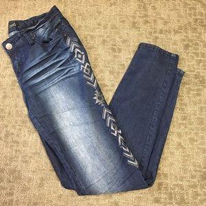 ZCO Denim - Zco Aztec pattern skinny jeans