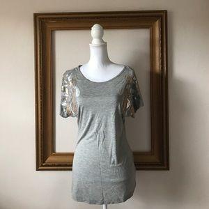 Kische Tops - Like new Kische embellished gray tee, s