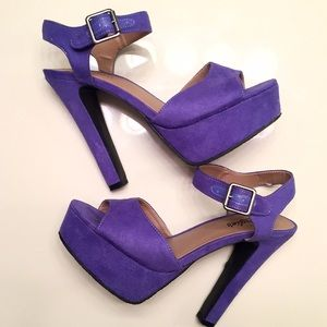 Candie's Shoes - [Candie's] light purple ankle strap pumps size 8.5
