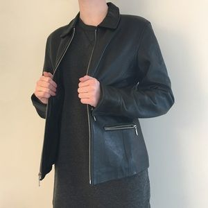 Massimo Alba Jackets & Blazers - GENUINE LEATHER Massimo black leather jacket