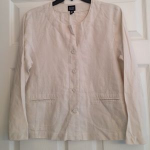 Eileen Fisher Tops - EILEEN FISHER PURE IRISH LINEN JACKET