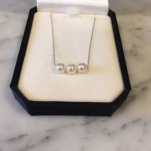 Add a pearl 14k white gold necklace