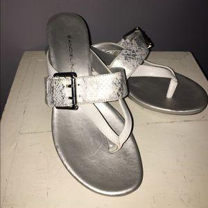 Shoes - Bandolino Silver Wedges Sz 7 1/2