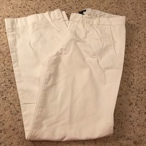 Gap White Khakis- Boy cut- wide leg- size 10 long