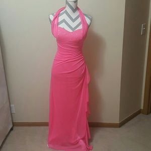 Blondie Nites Dresses & Skirts - Blondie Nites Hot Pink Embellished Formal Gown