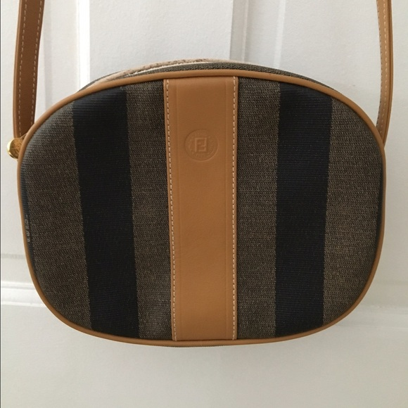 c6d43a7c88 Fendi Handbags - Vintage Fendi pequin stripe crossbody bag