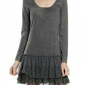 a'reve Dresses & Skirts - a'reve dress lace long sleeve charcoal